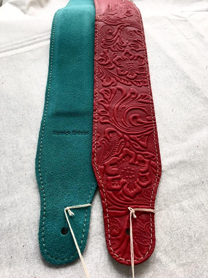 Sangle, courroie, bretelle guitare strap Patrick et Julie bleses Made in france, Drome